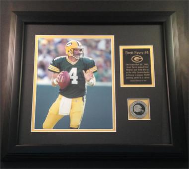 Brett Favre 50,000 Passing Yards Photo Plaque