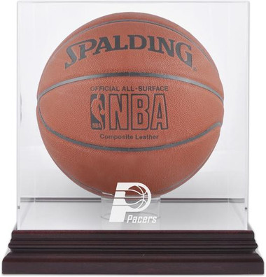 Indiana Pacers Mahogany Basketball Display Case