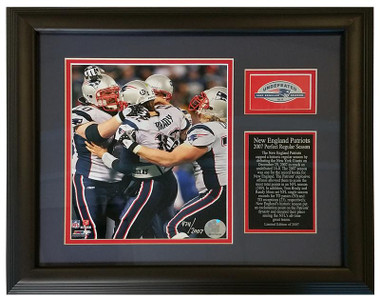 New England Patriots 2007 Perfect Season Framed & Double Matted 18x14 Photo