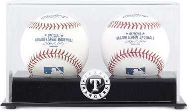 Deluxe MLB Two Baseball Cube Rangers Display Case