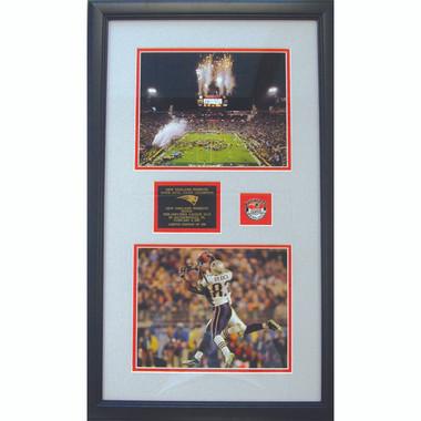 New England Patriots Super Bowl 39 Duo Plaque