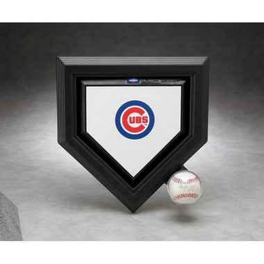 Mini Home Plate and Single Baseball Display Case