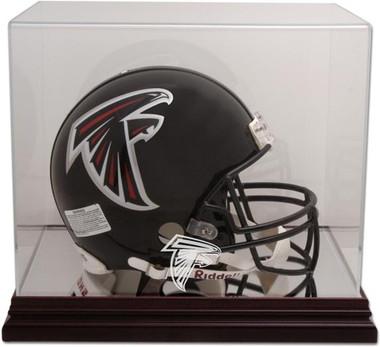 Mahogany Football Helmet Falcons Display Case