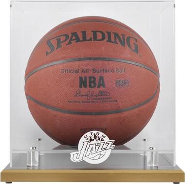 Utah Jazz Woodbase Basketball Display Case
