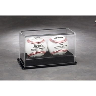 2 Baseball Display Case with Black Base
