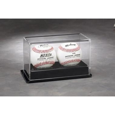 2 Baseball Display Case with Black Base