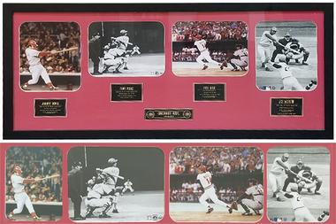 Cincinnati Reds Legends Framed Photos (18x42) Featuring Johnny Bench, Tony Perez, Pete Rose & Joe Morgan