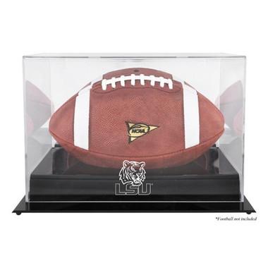 Louisiana State Tigers Blackbase Football Display Case