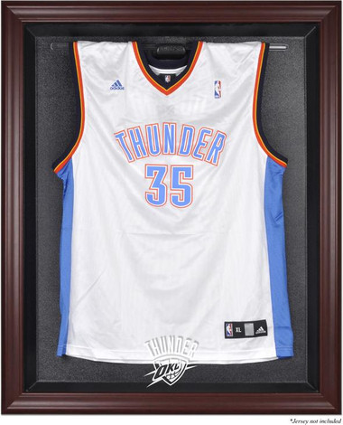 Oklahhoma City Thunder Mahogany Framed Jersey Display Case
