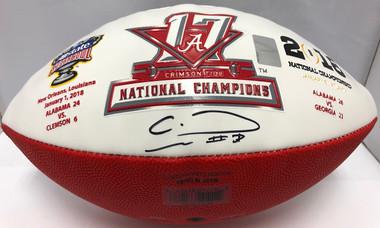 Alabama Crimson Tide 2018 CFP National Championship Football, Calvin Ridley Autograph