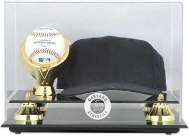 Acrylic Cap and Baseball Athletics Display Case