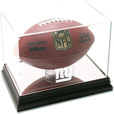 Mahogany Football Giants Display Case