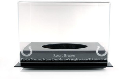 Black Base Football Manning-Marino Record Breaker Display Case