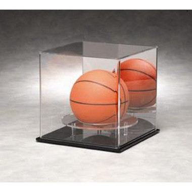 Mini Basketball Display Case with Mirrored Back