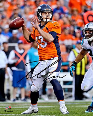 """Trevor Siemian Denver Broncos Autographed 8"""" x 10"""" Orange Vertical Photograph"""