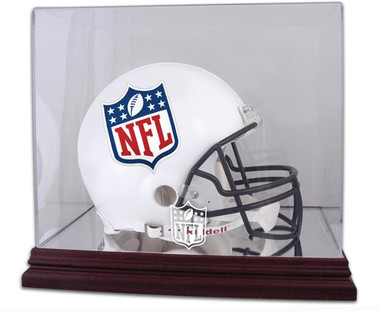 Mahogany Football Helmet NFL Display Case