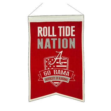"""Alabama Crimson """"Roll Tide"""" Nation Banner"""