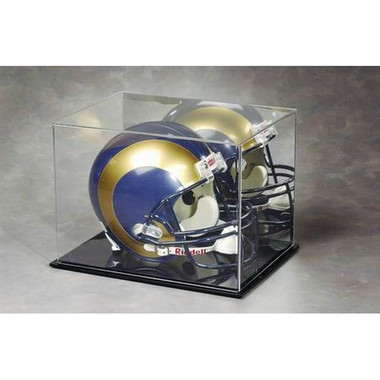 Full Size Football Helmet Display Case with Mirrored Background