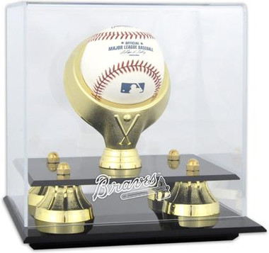 Golden Classic MLB Single Baseball Braves Display Case