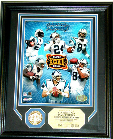 Carolina Panthers Super Bowl 38 Appearance Plaque