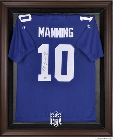 Brown Framed NFL Jersey Display Case