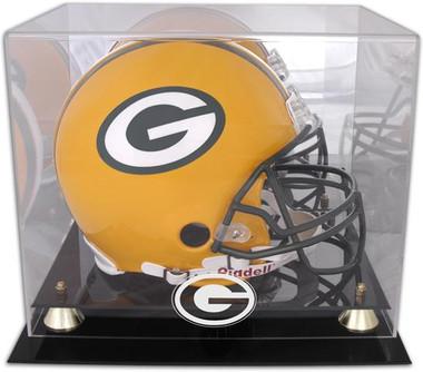 Golden Classic Football Helmet Packers Display Case