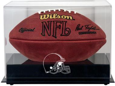 Black Base Football Browns Display Case