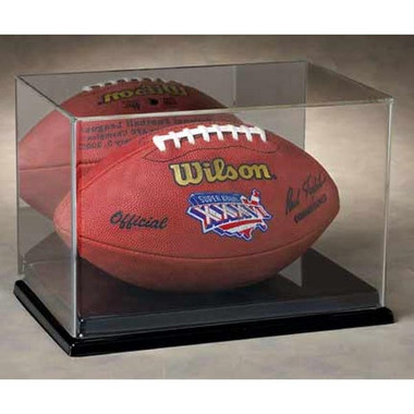 Full Size Football Display Case with Mirrored Background
