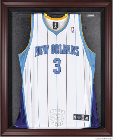 New Orleans Pelicans Mahogany Framed Jersey Display Case