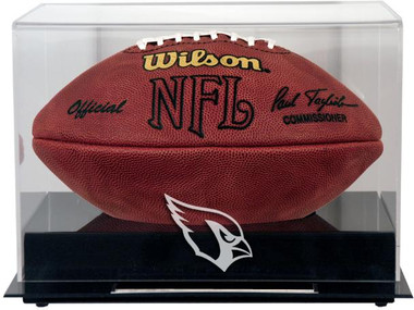 Black Base Football Cardinals Display Case