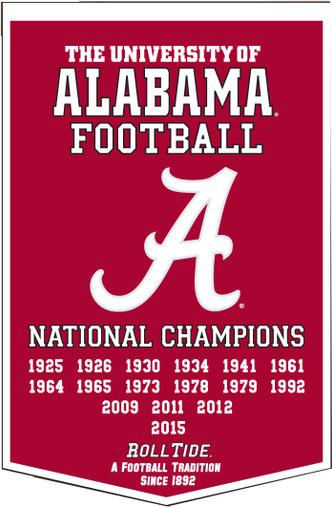 2016 Alabama Crimson Tide Dynasty Banner
