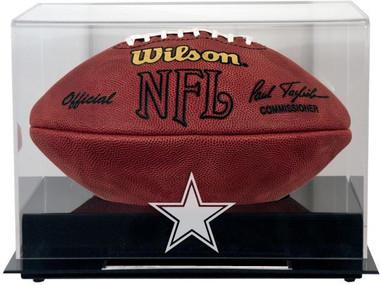 Black Base Football Cowboys Display Case