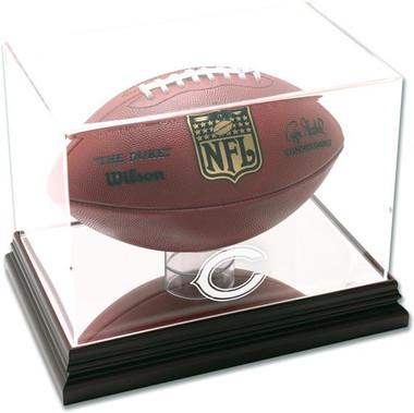 Chicago Bears Mahogany Football Display Case