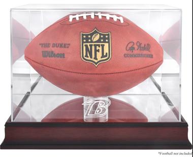 Mahogany Football Ravens Display Case