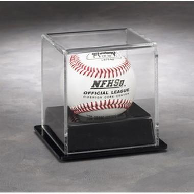 1 Baseball Display Case with Black Base