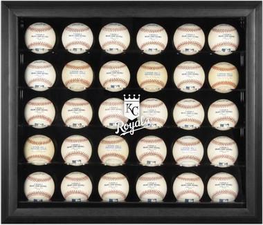 Black Framed MLB 30-Ball Royals Display Case