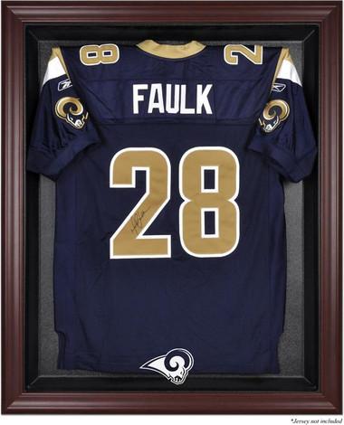 Mahogany Framed Rams Jersey Display Case