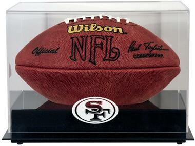 Black Base Football 49ers Display Case
