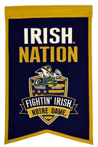 """Notre Dame """"Irish"""" Nation Banner"""