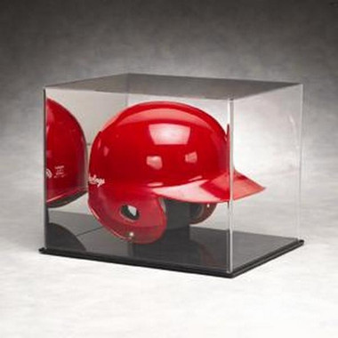 Baseball Batting Helmet Display Case with Mirrored Back