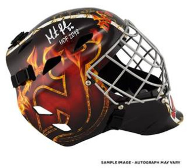 Martin Brodeur New Jersey Devils Autographed Replica Full-Size Goalie Mask with HOF 2018 Inscription