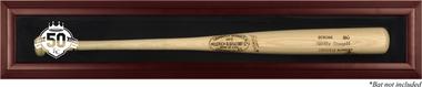 KC Royals Mahogany 50th Anniversary Logo Bat Display Case