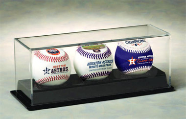 Houston Astros World Series Champions 3- Ball Set in Acrylic Display Case