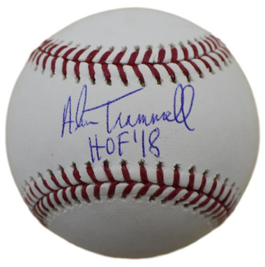 "Alan Trammell Autographed Baseball with ""HOF"" Inscription"