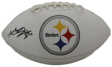 Antonio Brown Autographed Pittsburgh Steelers White panel football JSA