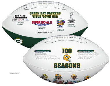 Green Bay Packers 100 Years of Football Excellence - Nikco Sports Exclusive Commemorative Football