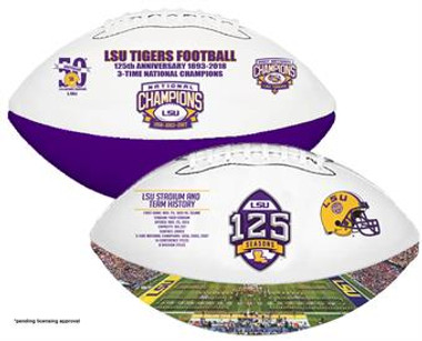 LSU 125 Seasons Football