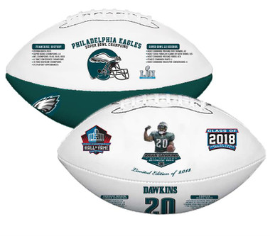 Brian Dawkins, NFL HOF, Nikco Sports Exclusive Rawlings Football