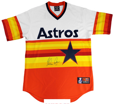 Nolan Ryan Autographed Majestic Houston Astros Throwback Jersey
