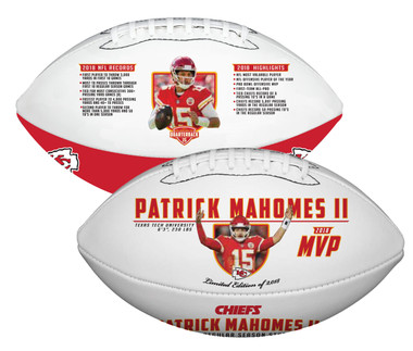 Patrick Mahomes, Rawlings NFL Licensed Kansas City Chiefs Football - a Nikco Sports Exclusive